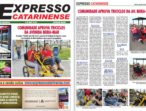 Matéria no jornal Expresso Catarinense